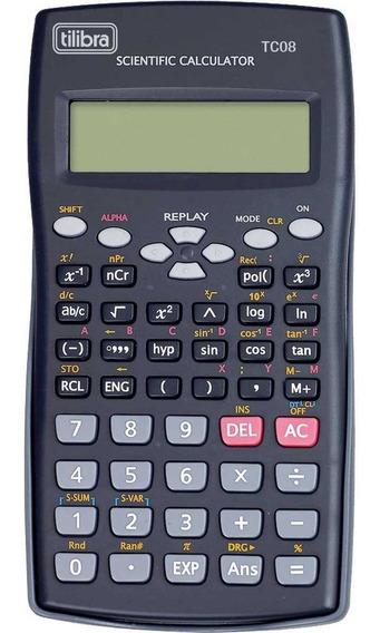 Calculadora Cientifica Tc08 Preto Tilibra