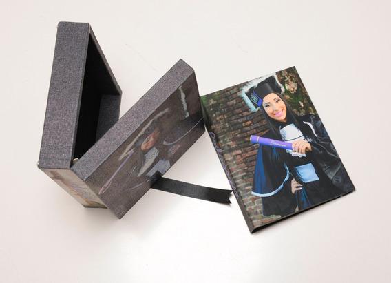 Album Fotográfico + Estojo Personalizado P/ 20x25 -120 Fotos