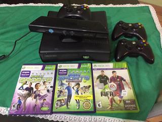 Xbox 360 Completa Funciona Todo