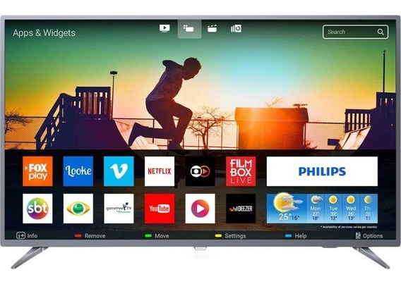 Smart Tv Philips 55 Led Ultra Hd 4k 55pug6513/78 Ultra Sli
