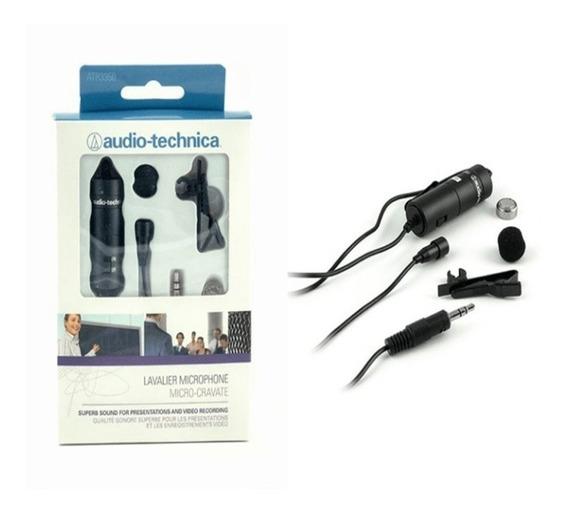 Microfone Lapela Atr 3350 Is Audio Technica Celular Gravador