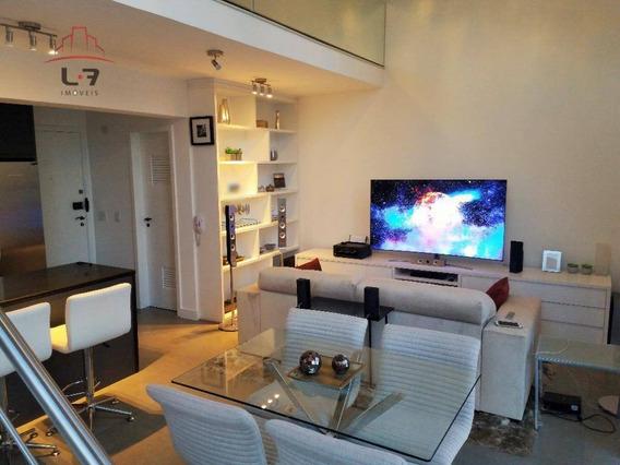 Loft Com 1 Dormitório À Venda E Para Locação, 65 M² Por R$ 735.000 - Bigorrilho - Curitiba/pr - Lf0003