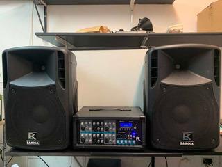 Consola 6 Canales De Audio Reck + 2 Parlantes Reck R-12