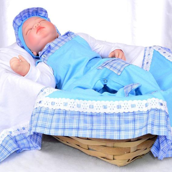 Saída Maternidade Menino Azul Enxoval De Bebê Azul Menino