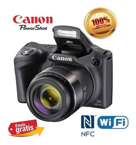 Camara Canon Semiprofesional Sx430 Wifi 20mp 90x Hd Oferta!