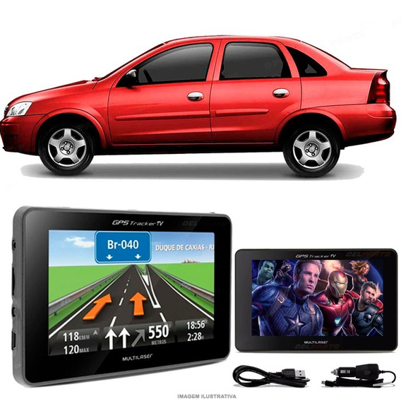 Gps Automotivo Corsa Sedan Tela 4.3 Voz Tv Digital Fm Oferta