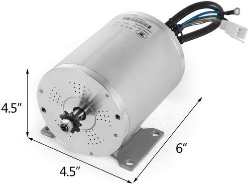 Motor eléctrico de 48V 1000W con 11 dientes y soporte de montaje para Go Karts