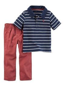 Conjunto Carters Infantil Menino 2 Pcs Camisa E Calca Short