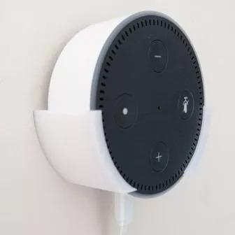 Suporte De Parede + Parafusos - Amazon Alexa - Echo Dot