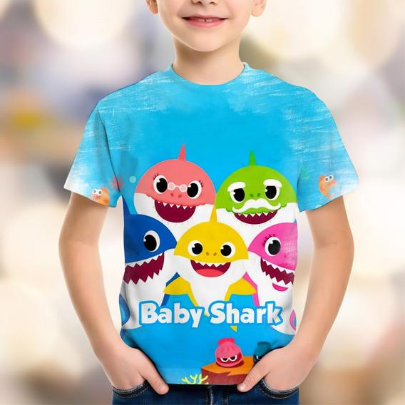 Body Camiseta Infantil Personalizada Baby Shark Doo Tubarão