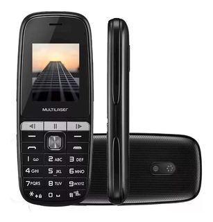 Celular Up Play Dual Mp3 Preto Multilaser 9076
