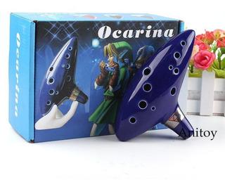 Ocarina En Ceramica Legend Of Zelda 12 Huecos + Obsequio