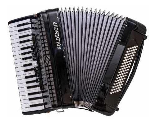 Acordeon A Piano Golden Cup Negro 80 Bajos 37 Teclas