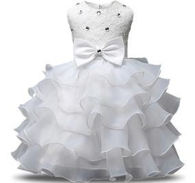 Vestido Festa Infantil Batizado Casamento Noivinha Daminha