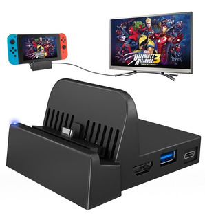 Mini Dock Base Portátil Nintendo Switch Cargador Hdmi 4k