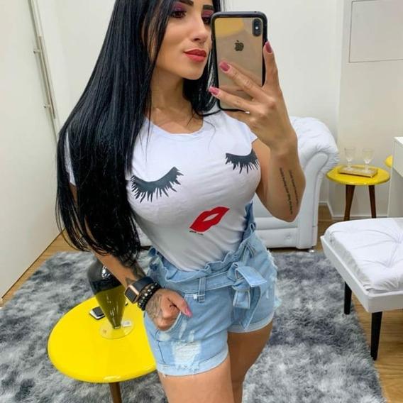 T-shirt Cílios Camiseta Tumblr Blogueira