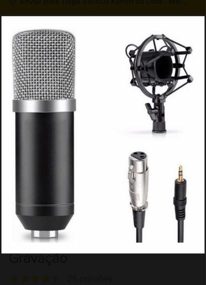 Microfone Condensador Bm700 Profissional