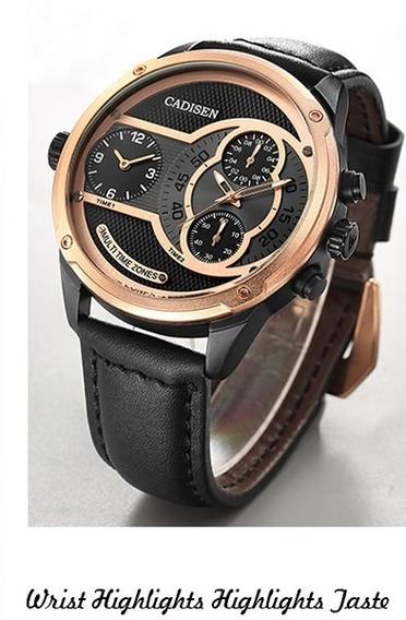 Relógio - Cadisen - Original - Cx 50mm - Quartzo - Funcional
