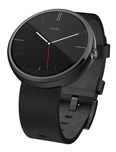 Reloj Inteligente Moderno Motorola Moto 360, Cuero Negro 004