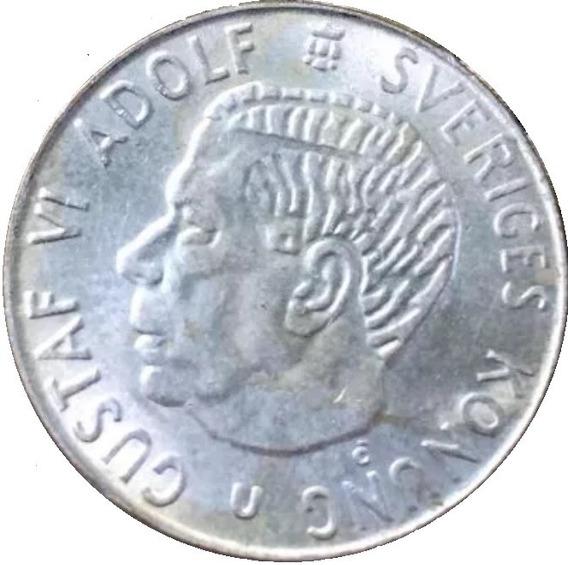 Onesmile:) Moneda De Suecia 1 Krona De Plata Año 1965