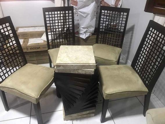 Vendo Mesa De Jantar Sem O Tampo De Vidro Com 4 Cadeiras