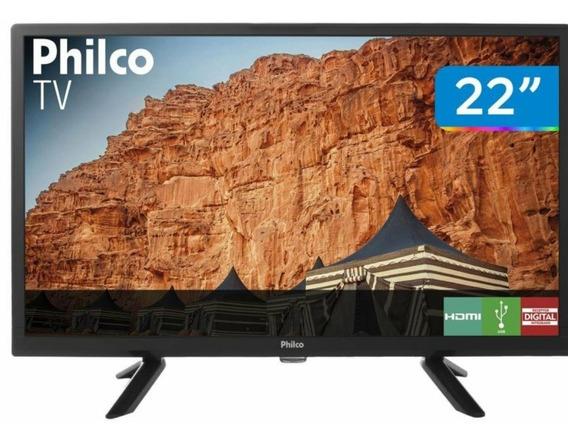 Tv 22 Philco Led Hd Controle Usb Digital