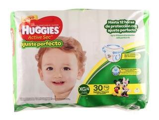 Pañal Huggies Active Sec Xg Ajuste Perfecto