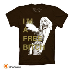 Lady Gaga Playeras Im A Free Bitch Monster Ball Tour