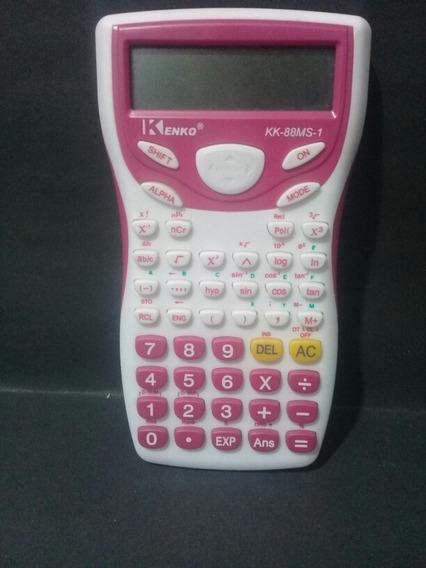 Calculadora Kenko/ Kk 88ms 1 Rosa E Branco