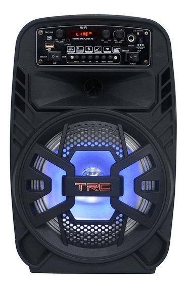 Caixa De Som Amplificada Trc 510 Portátil Bluetooth Usb 100w