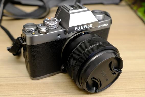 Câmera Fuji X-t100 Grafite Com Lente Kit Sem Detalhes