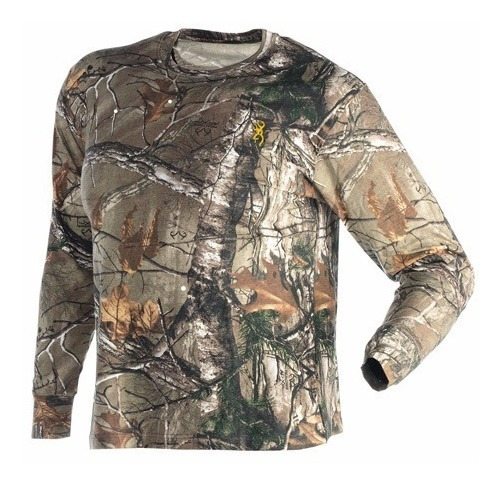 Playera Manga Larga Marca Browning Wasatch Realtree Xtra