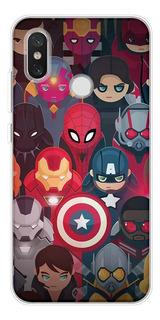 0f14toux - Para Xiaomi Mi 5s - Marvel Avengers Comics Soft T