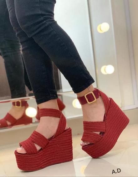 Sandalias Altas De Plataforma Para Damas,muj Moda Colombian