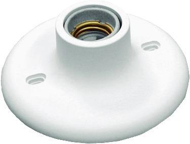 Plafon Soquete Porcelana E-27 100w Branco Betel
