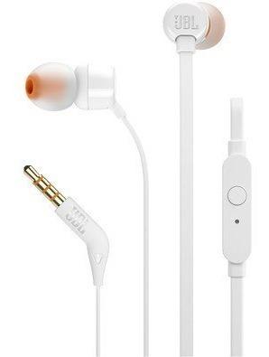 Fone De Ouvido In Ear Intra Jbl T110 Branco Original Lacrado