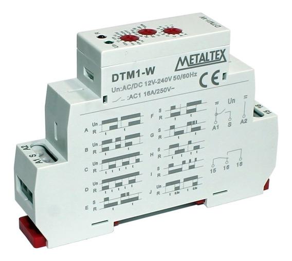 Temporizador Multi-função Metaltex Dtm1-w 12-240vca/cc