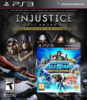 Injustice:gods Among Usue + Ps® All-stars Battleroyale (ps3)