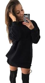 Vestido Feminino Casaco Moletom Grosso Blusa Frio Foto Real