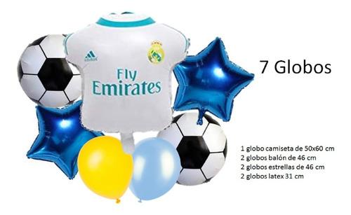 Set Globos Metalizado Real Madrid X7