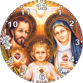 Kit 12 Relógios Parede Sagrada Família Em Caixas Individuais