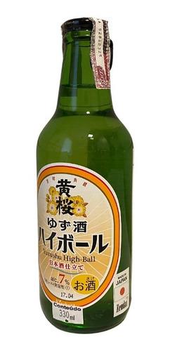 Imagem 1 de 1 de Sake Sparkling Yuzu Shu High-ball 330ml Kizakura Japão