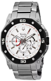 Relógio Bulova Star Marine Wb30962t Prata Masculino Original