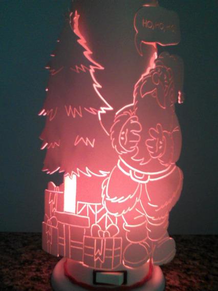 Luminária Pvc Papai Noel