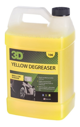 Yellow Degreaser / Desengrasante - Exterior 4 L / 3d