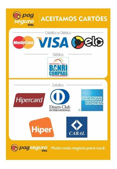 10 Adesivos Pagseguro Moderninha Uol Visa Mastercard Elo