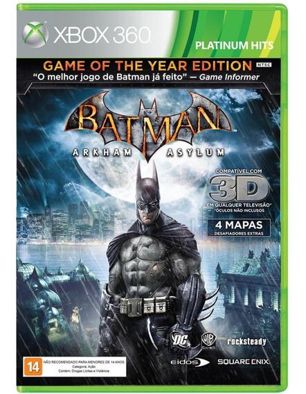 Batman Arkham Asylum (original) Mídia Física (xbox 360) Novo