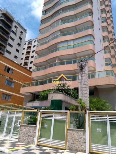 Apartamento Com 2 Dormitórios À Venda, 80 M² Por R$ 330.000,00 - Tupi - Praia Grande/sp - Ap0104