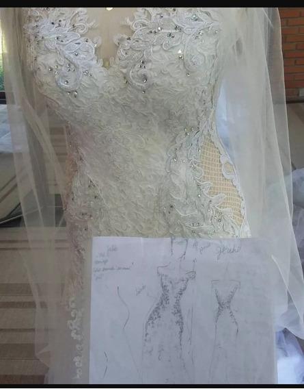 Vestido Noiva, Usado 1 Vez.