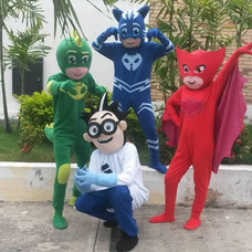 Show Pj Masks Heroes En Pijama Animacion ,princesas Vengador